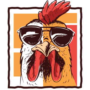Cooler Hahn Mit Sonnenbrille