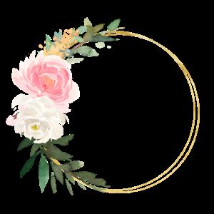 Blumen Bouquet Kreis -personalisierbar