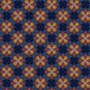 Muster rot-gelbe Rundkreise (Poster)