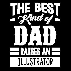 Die beste Art von Vater zieht einen Illustrator auf
