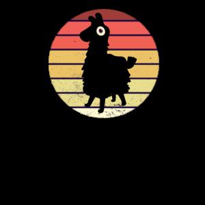 Lustiges Retro Vintage Lama Alpaca Shirt