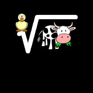 Mathe Lehrer Ente Wurzel Kuh Wortspiel Geschenk