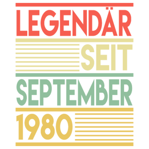 40 Geburtstag September 1980 Geschenk Geschenkidee