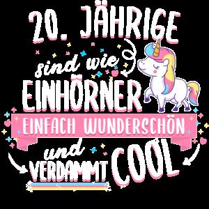 Geburtstag 20 Geburtstag Einhorn Spruch Party