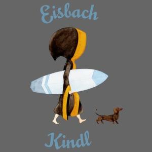 Münchner Kindl mit Surfbrett und Dackel