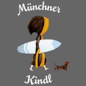 Münchner Kindl Eisbach Surfer mit Text