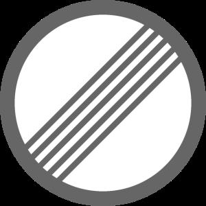 Verkehrsschild Geschwindigkeit Frei Autobahn