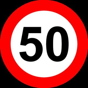 Verkehrsschild Geschwindigkeit Grenze 50