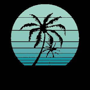 Vintage Beach Retro California Palm Trees Tropical