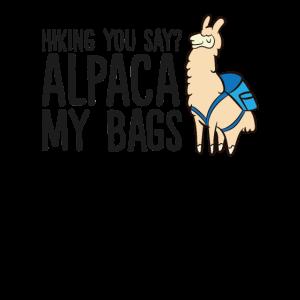 Wandern Sie sagen Alpaka Meine Taschen Alpaka