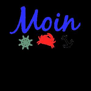 Moin, Krabbe, Anker, Steuerrad