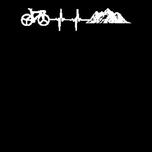 Fahrradfahren Berge Herzschlag Radfahrer Puls