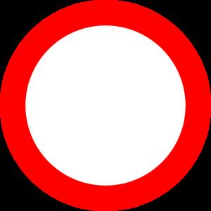 Verkehrsschild Verbot Rot Weiss
