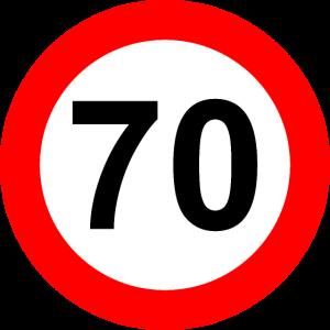 Verkehrsschild Geschwindigkeit Grenze 70