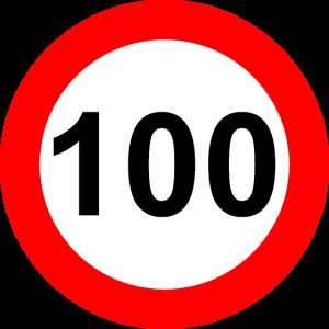 Verkehrsschild Geschwindigkeit Grenze 100