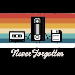 Never Forgotten Casette Tape VHS Floppy Disc
