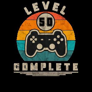Level 50 Complete Retro Gaming Geek Geschenkidee