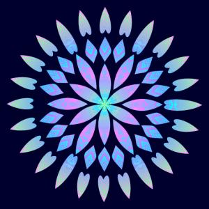 Blume Pastellfarben blau Gesichtsmaske
