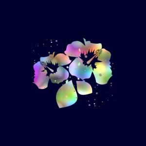 Hibiskusblüten Pastellfarben Blau Gesichtsmaske