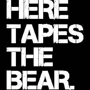 Here Taps The Bear Denglisch Lustige Geschenk Gift