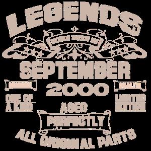 Geschenk zum 20. Jahrestag September Legends 2000