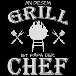 Papa ist Grill Chef Grillcheff Geschenk T-Shirt