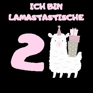 2 Geburtstag 2 Jahre Lama Mädchen