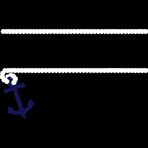 Maritimer Rahmen mit Anker