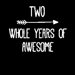 Geburtstag 2 ganze Jahre fantastisch