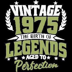 Vintage 1975 Legenden Geburtstag 45 Jahre Geschenk