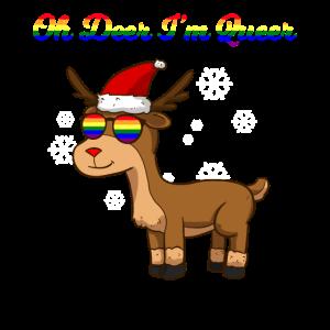 Oh Deer Im Queer LGBT Weihnachten LGBTQ Rentier Sp