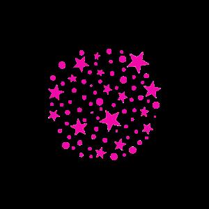 Sternen Muster Kugel Pink Sterne Stern rosa