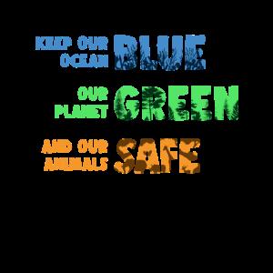 Keep Our Ocean Blue Klimaschutz Umwelt Geschenk