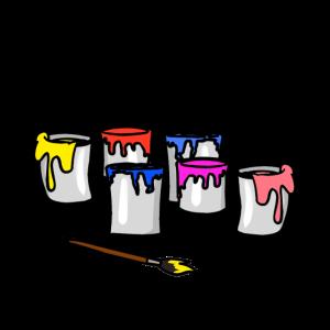 Arbeitsbereich Farben Berufe Job Maler Künstler