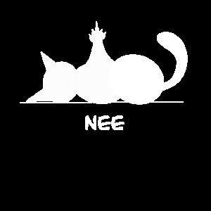 Katze Nee,Nö, Nein, No,… No way, Mittelfinger
