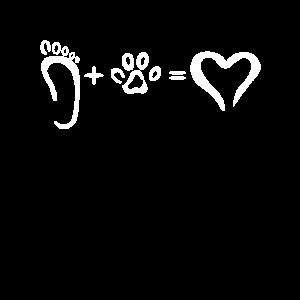 Hundepfote Und Fußabdruck | Barfuß Gassi
