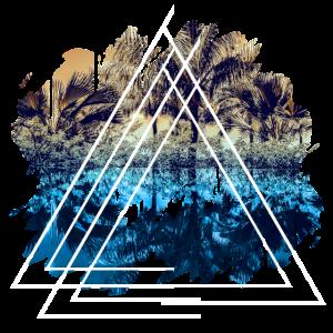 Urlaubsort Landschaft Dreiecks Form Geschenk