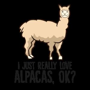 Ich gerade wirklich liebe Alpakas Ok