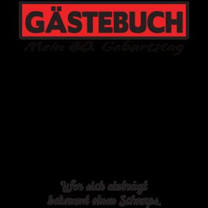 60. Geburtstag Gästebuch Geschenk Gästeliste 60ter
