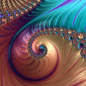 Fraktal Farben Muster Ornamente Bunt Psychedelisch