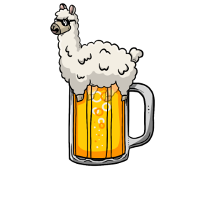 Alpaka im Bier