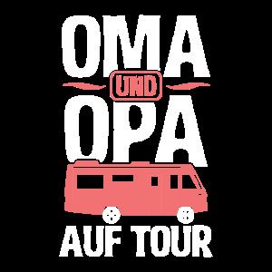 Oma und Opa auf Tour Camping Camper Wohnmobil