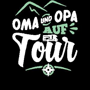 Oma und Opa auf Tour Camping Wohnmobil Camper