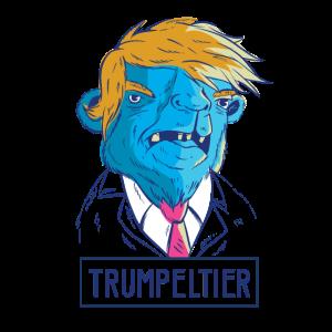 Trumpeltier Trump als Kamel