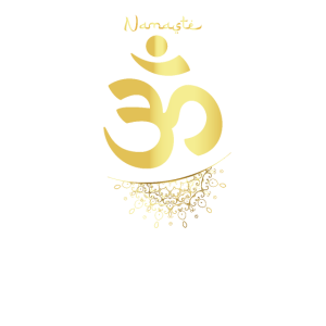 Yoga Mantra Namaste. Elefantenmeditation OM Symbol