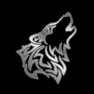 Wolf Tribal Silber