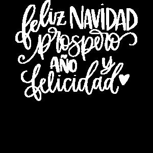 Feliz Navidad Prospero Ano Felicidad Spanisch