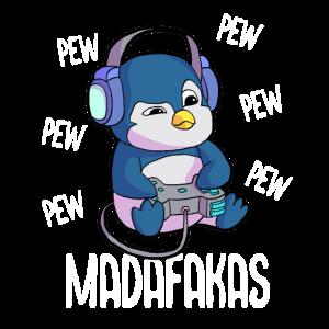 Pew Pew Madafakas Pinguin Gamer Gaming