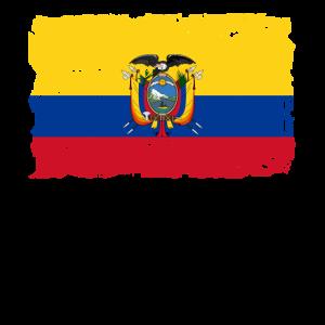 Ecuador Flagge - Ecuador Flag - Shabby Look