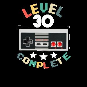 30 Jahre alt 30 Geburtstagsgeschenk Stufe 30 abgeschlossen